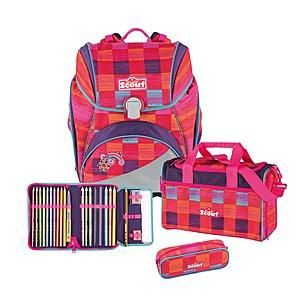 Scout Alpha Pink Rainbow 4 tlg. Schulranzen Set