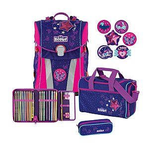 Scout Sunny Stickys Cool Girl Schulranzenset 4 tlg.