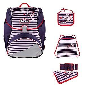 Scout Alpha Happy Stripes 4 tlg. Schulranzen Set