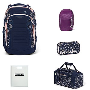 Satch Match Bloomy Breeze 5tlg Schulrucksack-Set