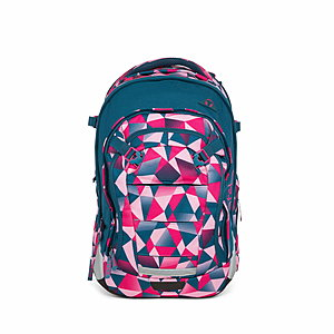 Satch Match Schulrucksack Pink Crush, Pink Polygon