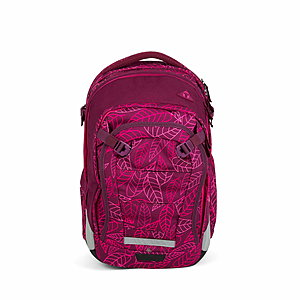 Satch Match Schulrucksack Purple Leaves