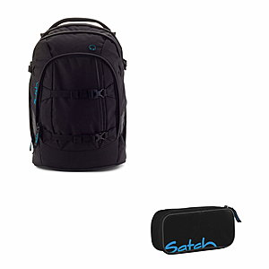 Satch Pack Black Bounce Schulrucksack 2 tlg. Set