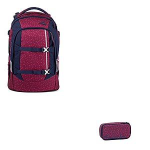 Satch Pack Blazing Purple 2tlg Schulrucksack Set