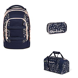 Satch Pack Bloomy Breeze 3tlg Schulrucksack-Set