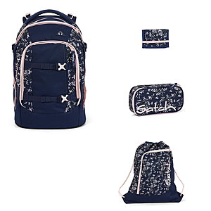 Satch Pack Bloomy Breeze 4tlg Schulrucksack-Set