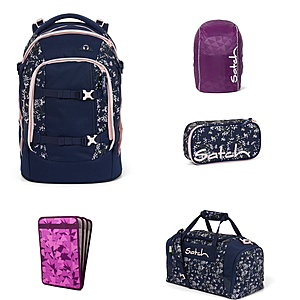Satch Pack Bloomy Breeze 5tlg Schulrucksack-Set
