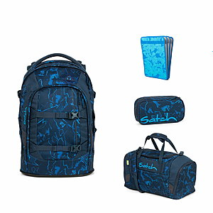 Satch Pack Blue Compass Schulrucksack Set 4tlg