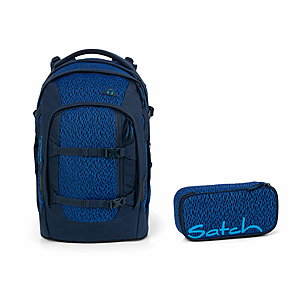 Satch Pack Blue Moon Schulrucksack Set 2tlg