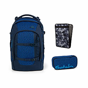 Satch Pack Blue Moon Schulrucksack Set 3tlg