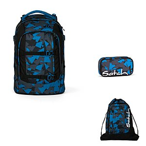 Satch Pack Blue Triangel 3 tlg. Set inkl. Sportbeutel