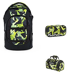 Satch Pack Gravity Jungle Schulrucksack Set 3tlg