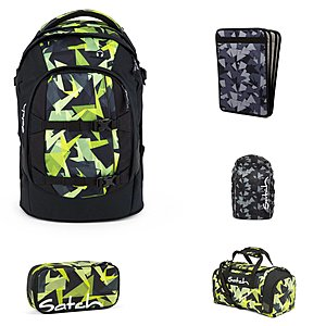 Satch Pack Gravity Jungle Schulrucksack Set 5tlg