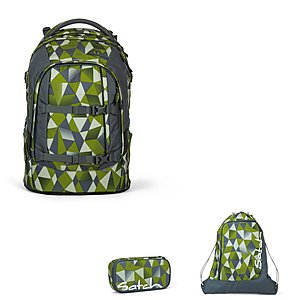 Satch Pack Green Crush Schulrucksackset 3 teilig