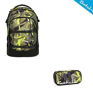 Satch Pack Jungle Lazer Schulrucksack Set 2 tlg.