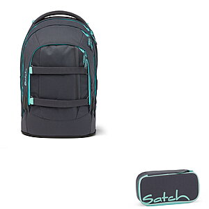 Satch Pack Mint Phantom Schulrucksack Set 2tlg