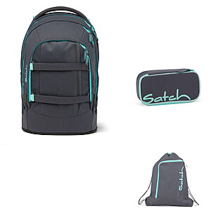 Satch Pack Mint Phantom Schulrucksack Set 3tlg