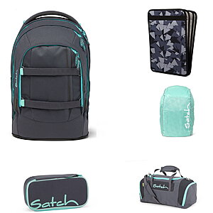 Satch Pack Mint Phantom Schulrucksack Set 5tlg