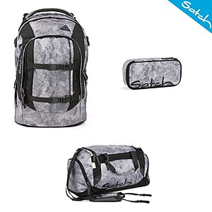 Satch Pack Rock Block Schulrucksack Set 3 tlg.