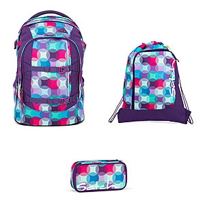 Satch Schulrucksack Pack Hurly Pearly 3 tlg. inkl. Sportbeutel