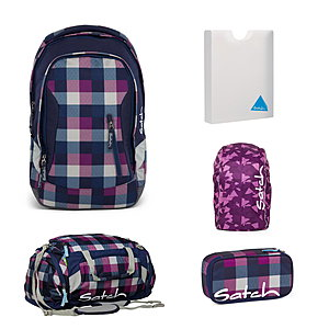 Satch Sleek Berry Carry Rucksack Set 5 tlg.