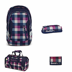 Satch Sleek Berry Carry Rucksack Set 4 tlg.