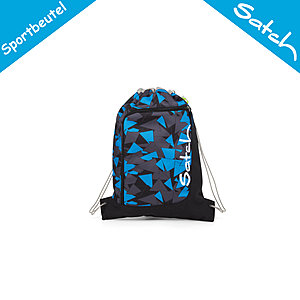 Satch Sportbeutel Blue Triangle, 12 Liter Volumen blaue Dreiecke