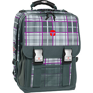 Schulrucksack Take it Easy London Kilt grau-lila