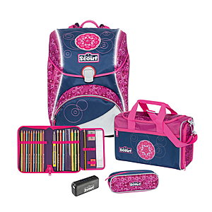 Scout Alpha Pink Mandala Safety Light Schulranzenset 4 tlg.