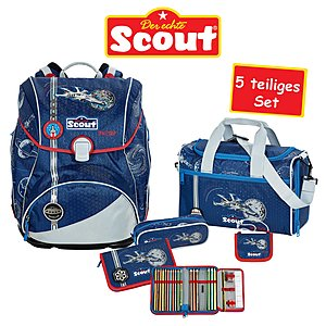 Scout Alpha Spaceship Schulrucksack 5 teliges Set