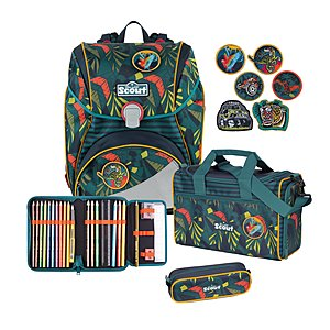 Scout Alpha Stickys Jungle Schulranzenset 4 tlg.