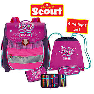 Scout Buddy Schulranzen-Set Purple Butterfly