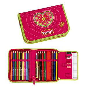 3328cc4203f66 Scout Etui 23tlg. Pink Heart 6625 mit dicken Stiften