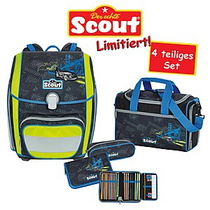 Scout Genius Black City Schulranzenset 4tlg.