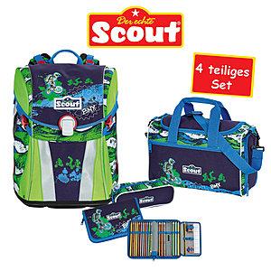 b1d6cc79a59c2 Scout Schulrucksack Sunny BMX 4 teiliges Set