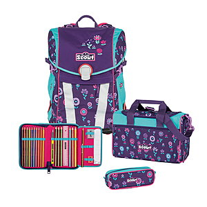 Scout Sunny Blueberry Schulranzenset 4 tlg