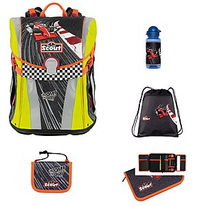 Scout Sunny Red Racer 5 tlg. Schulranzen-Set