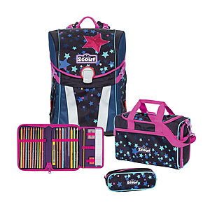 Scout Sunny Sweet Stars Schulranzenset 4 tlg