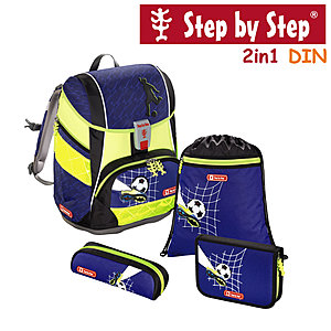 Step by Step 2in1 DIN Top Soccer, 4 tlg Schulranzen Set