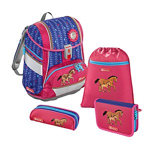 Step by Step 2in1 Lucky Horses 4 teiliges Schulrucksackset