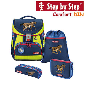 Step by Step Comfort DIN Horse Family Schulranzen-Set 4-tlg.