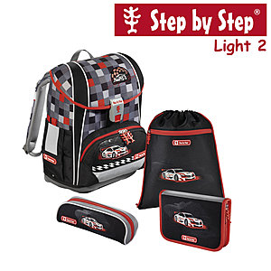 Step by Step Light2 Racer, 4 tlg Schulranzen Set
