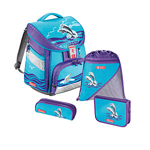 Step by Step Schulranzen 4 teiliges Set Comfort, Happy Dolphins