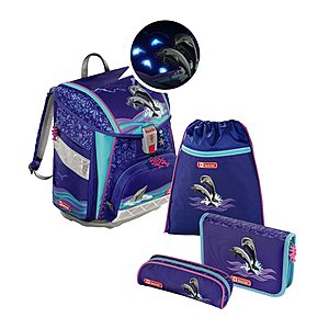 Step by Step Touch 2 Flash Happy Dolphins Schulranzen Set 4 tlg.