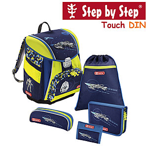 Step by Step Touch DIN Space Pirate, 5 tlg Schulranzen Set