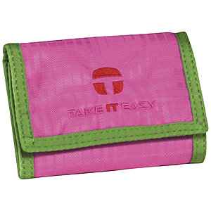 Take it Easy Geldbörse Light Nylon 216 pink grün