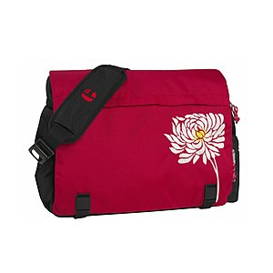 Take it Easy Shoulderbag für Laptop White Flower