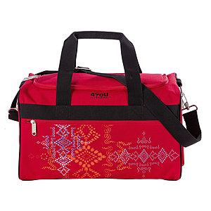 4YOU 17000 Kinder Sporttasche M mit Nassfach Ethno rot 397