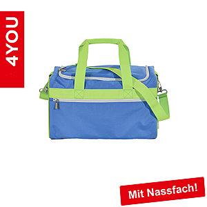 4YOU Sporttasche M Sporty 301 blau, mit Nassfach