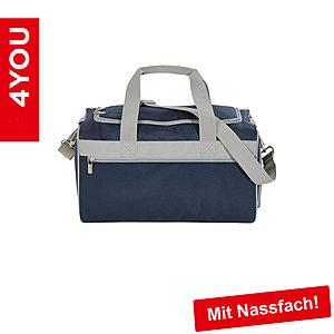4YOU Sporttasche M Power Blue mit Nassfach, dunkelblau